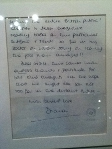 Correspondance de Lady Diana, peu de temps avant la naissance du Prince William, en juin 1982.
